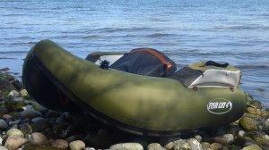 Fishcatten har skiftet farve fra marineblå til armygrøn